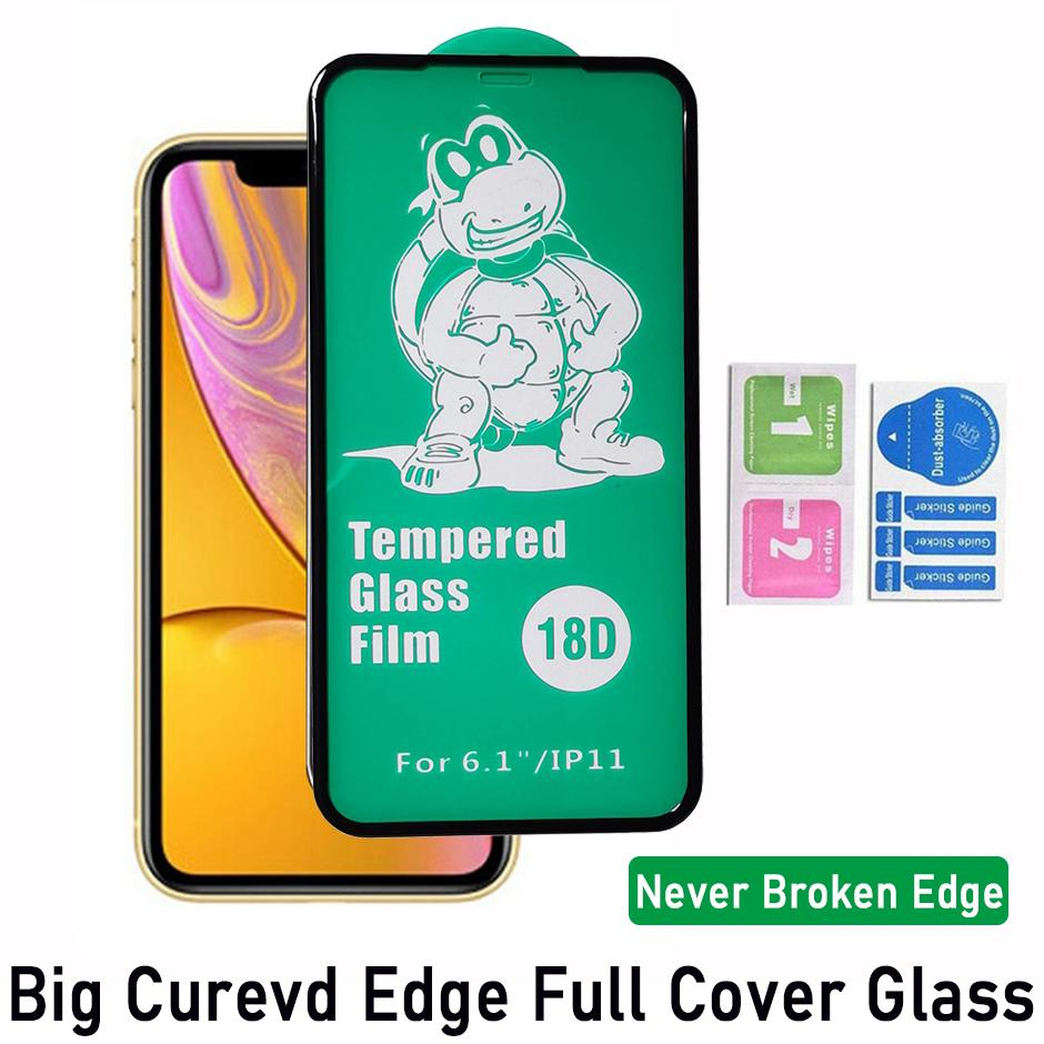18D Airbag Soft Edge Cover Full Cover Glass Temperato Protezione dello schermo per iPhone 12 Mini Pro Max iPhone 11 XR XS Max 6 7 8 Plus