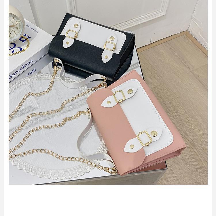 حقائب الكتف المرأة 2021 جديد أزياء بسيطة متعددة الاستخدامات سلسلة رسول حقيبة صغيرة حقيبة مربع