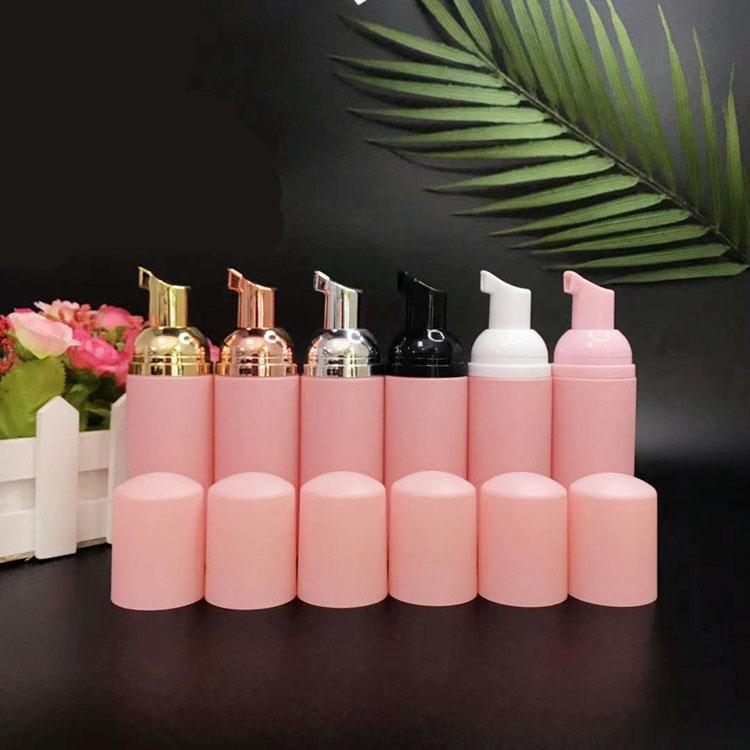 Pink Plastic Foaming Bottles Foaming Pump Bottles 60ml Foam Dispenser Empty Refillable Travel Bottles for Hand Shampoo Cleaning Airport Outdoor Supplies