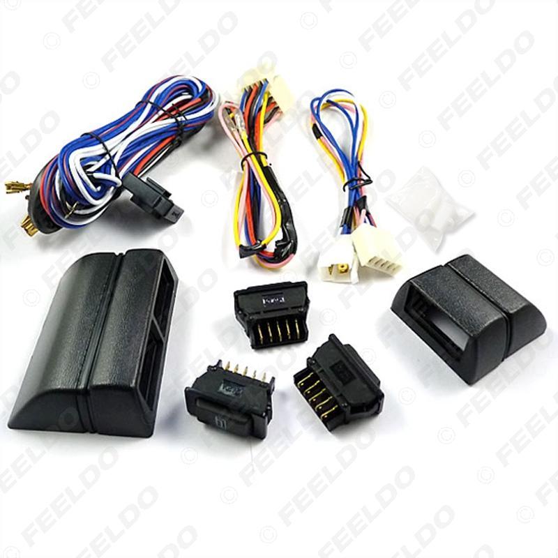 Interrupteur de levage de fenêtre de puissance universelle 3pcs commutateurs avec support et harnais de fil # 2468