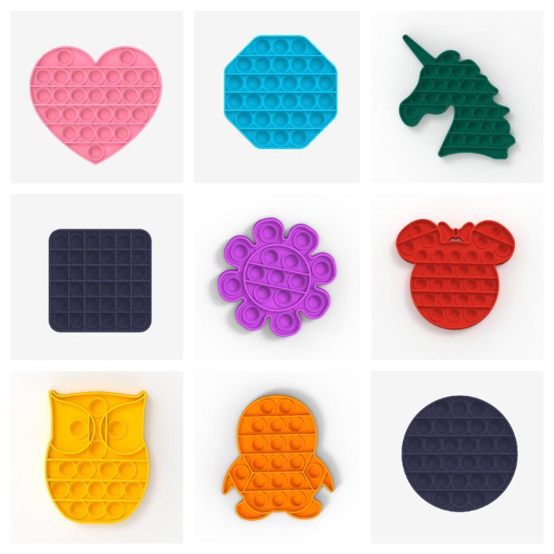 Push Pop Bubble Fidget Sensory Autism Special Needs Stress Reliever Toys Fashion Multicolor Fidget Simple Toys Gift G12901