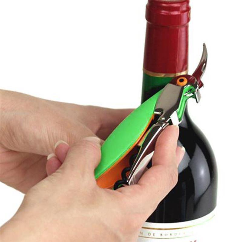 3pic / set Red Wine APENSIÓN Portátil Parrot Cerveza Botella de vino Abrebotellas Personalizar Cuchillo de corte de acero inoxidable Mini sacacorchos Abridores de botellas