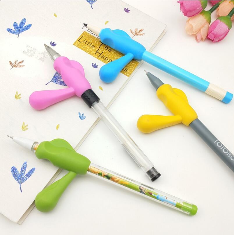2021 الغذاء الصف آمن سيليكون مقبض نوع حاملي القلم القلم قلم رصاص للأطفال خط اليد حاملي القلم كتابة المساعدات سيليكون مقطوعة