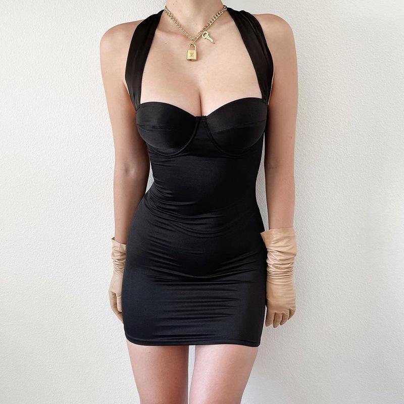 2021 Frühling und Sommer Neue Mode Sexy Nähte Bandage Rock Damenkleid