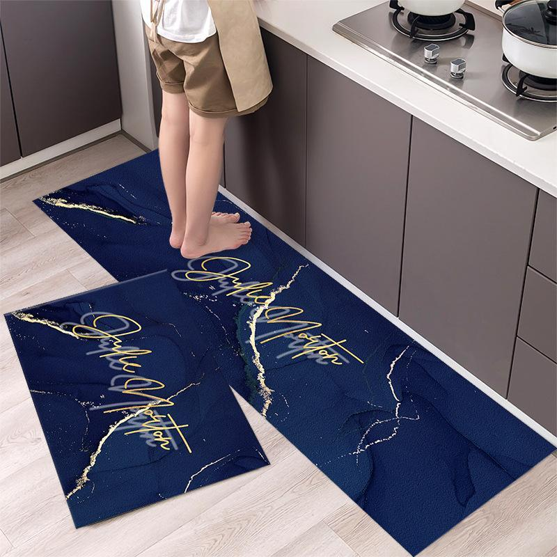 Carpets 2Pcs Non-slip Long Strip Kitchen Floor Mat Bathroom Entrance Door Bedroom Living Room Bedside Area Rugs Modern Home Decor