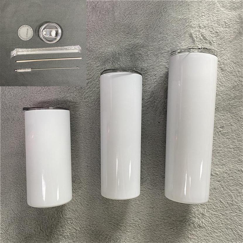 20oz Sublimation Tumbler dritto Blanks 15-30 oz acciai inossidabile Automobili tazze di bicchieri tazze da viaggio con bottiglia d'acqua isolata paglia in acciaio alla rinfusa