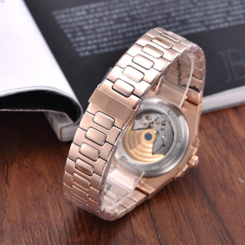 자동 기계 디 Lusso 캐주얼 시계 316L 스테인레스 P.P 망 손목 시계 몬트르 드 Luxe 첫 번째 클래식 Horloge