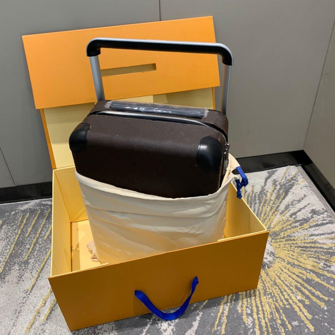 Viaggio valigia bagaglio classico Brand designer di lusso moda unisex bag tronco borse floreale lettere box box box spinner universale rotella borse borse