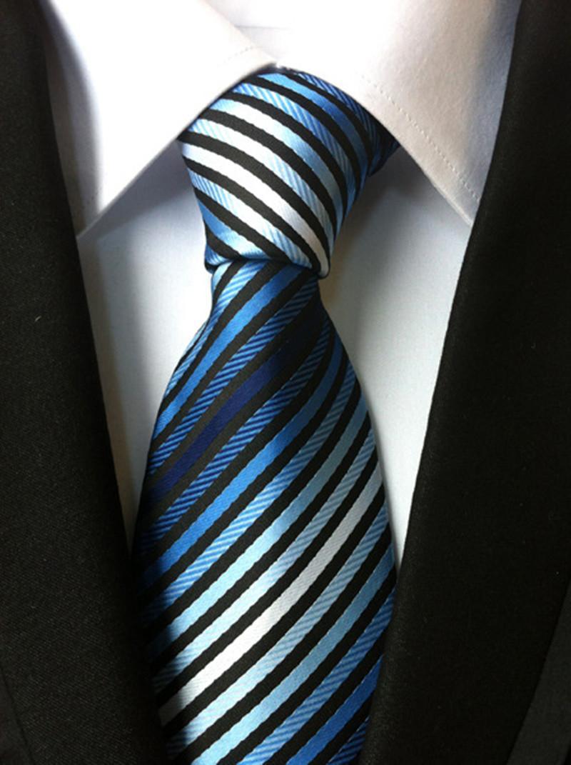 التعادل للرجال الكلاسيكية شريط الجاكار العلاقات 8 سنتيمتر رجال الأعمال عارضة العصرية نحيل العرسان ربطة العنق حفل زفاف بدلة قميص N-33768