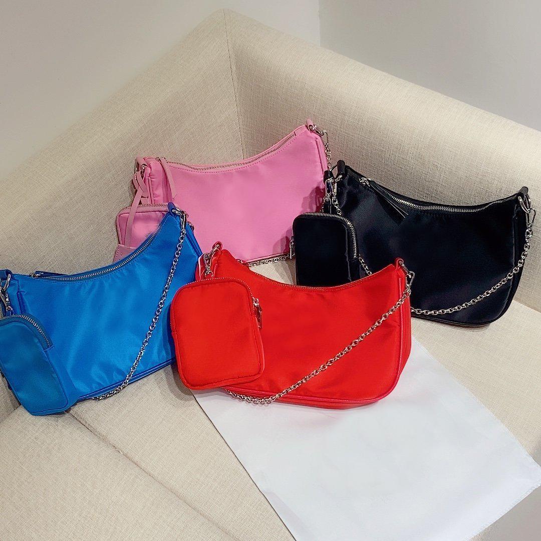 Luxurys Designers Meia Moon Bags Canvas Hobo para Mulheres Saco De Ombro Pacotes Lady Tote Chains Bolsas Presbyopic Bolsa Bolsas De Mensageiro