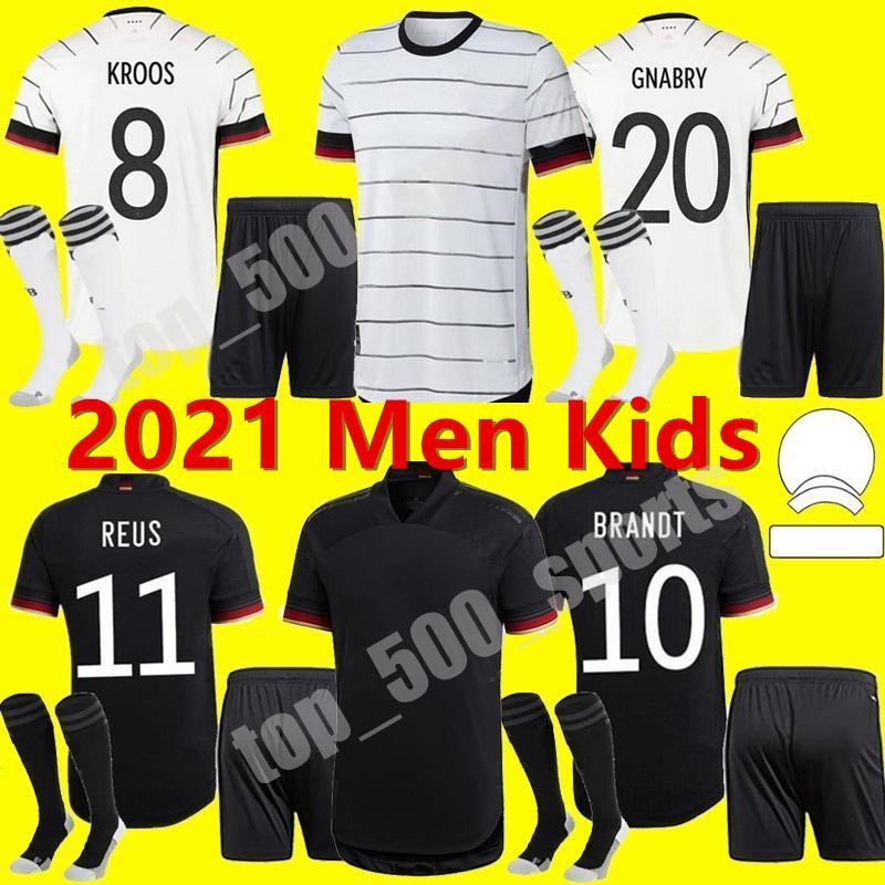 남자 키트 키트 2021 독일 축구 유니폼 홈 험멜 Kroos Draxler Reus Muller Gotze Goatze 셔츠 유니폼