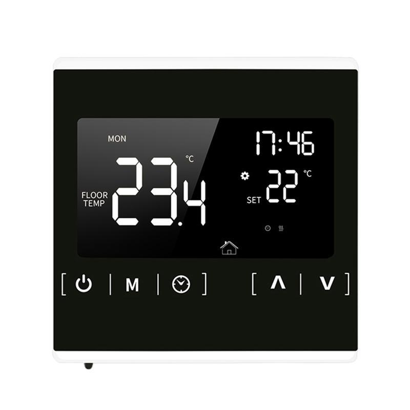 Akıllı Ev Kontrolü Termostat LCD Dokunmatik Ekran Programlanabilir Elektrikli Yerden Isıtma Sistemi Termoregülatör Sıcaklık Kontrol