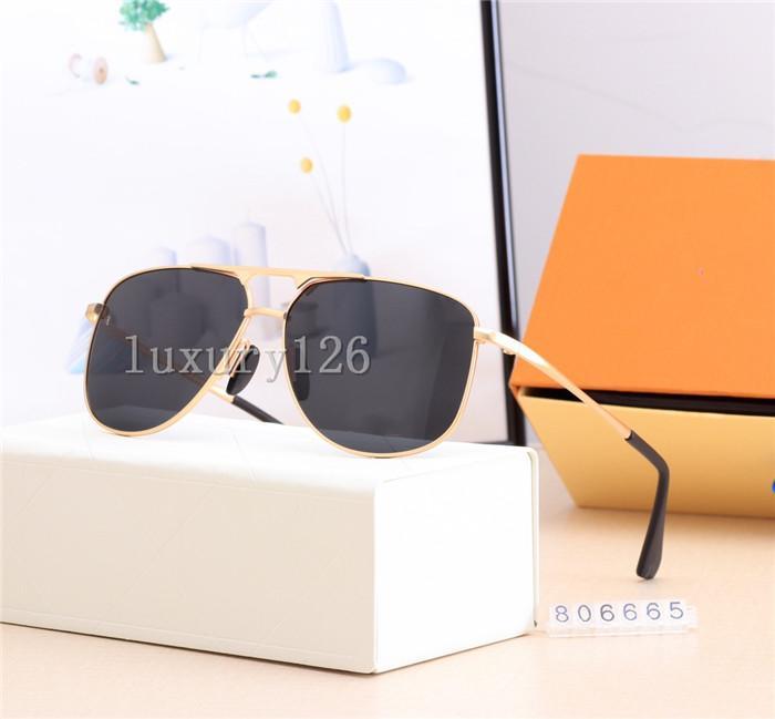 Sunglasses de marque Designer Hommes Populaire modèle Métal Vintage Sunglasses Style de mode Ovale UV UV 400 Lens Venez avec un paquet Hot Sell dans la boîte