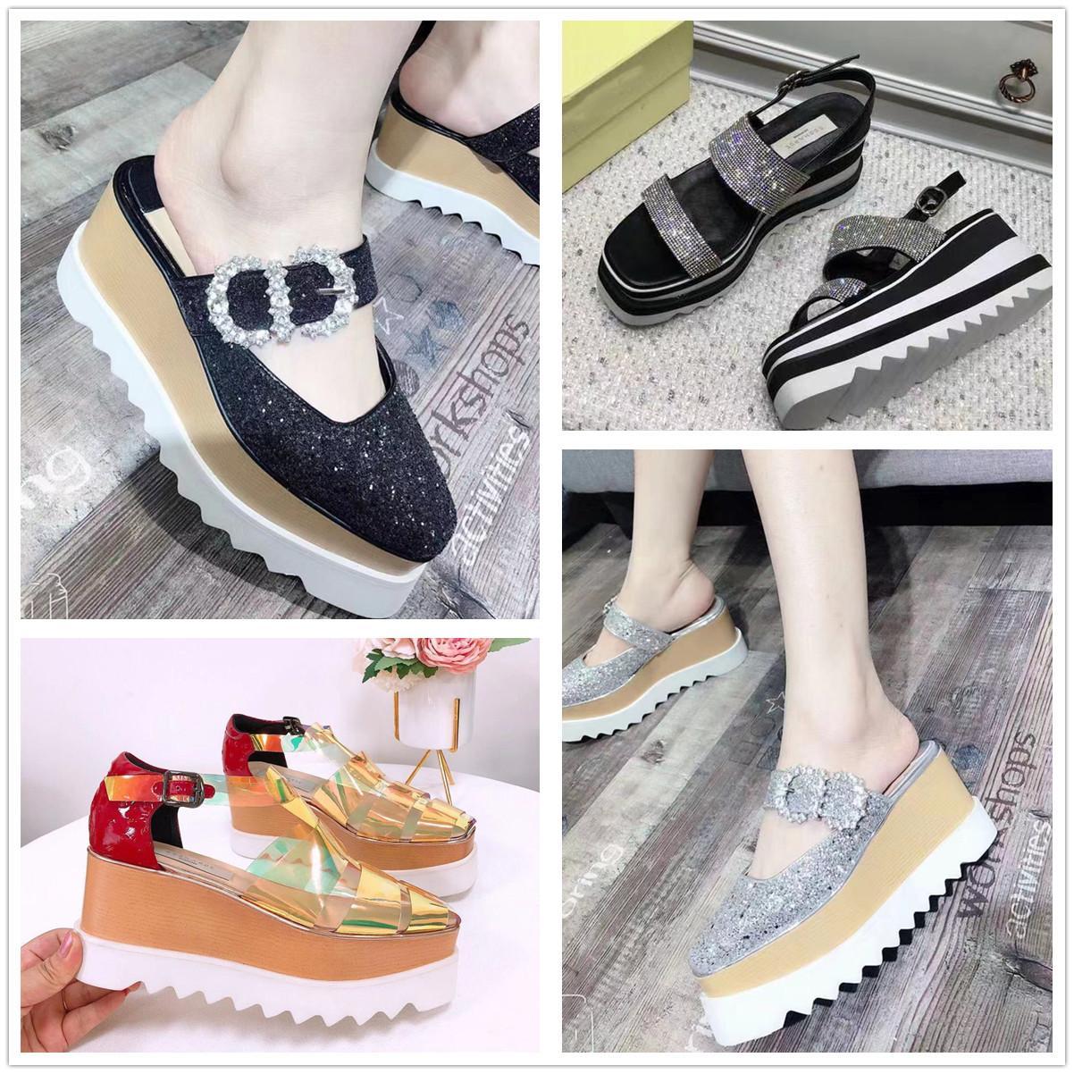 2021 Yaz Bebek Aynı Stil Rahat Sandalet Kalın Bütün Bütün Bu Yıl Öğeleri Sünger Kek Ayakkabı