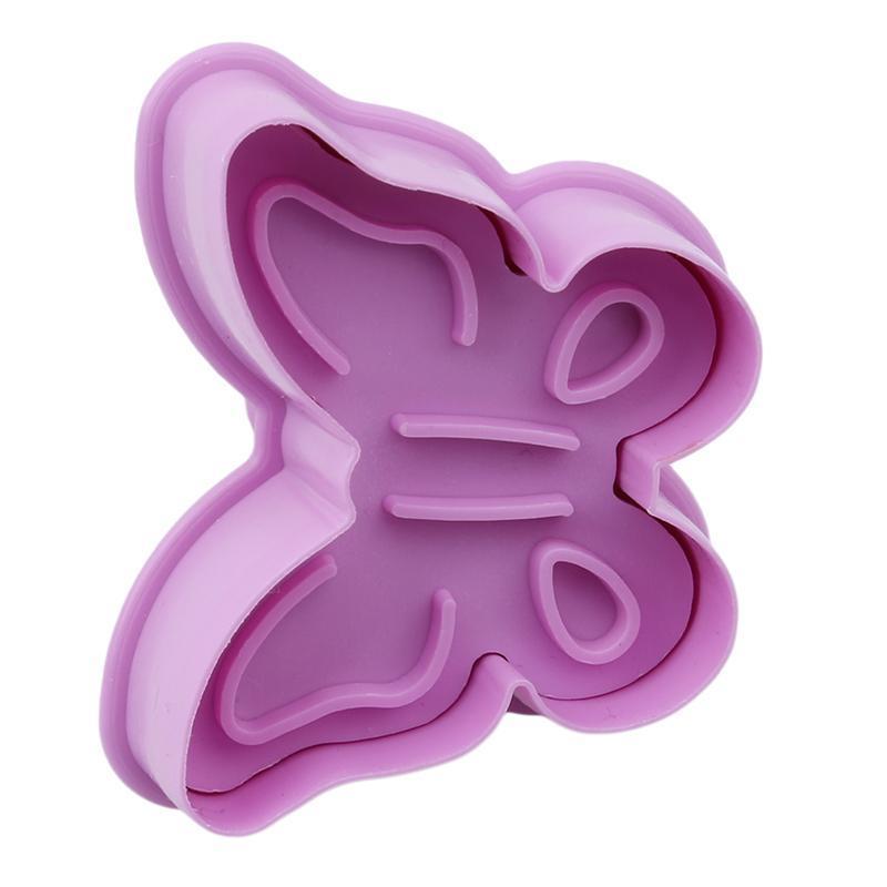 4pcs / Set Cookie Timbre 3D Butterfly Formulaire de biscuit de biscuit de plongeur cuisson cuisson de décoration de gâteau de Noël Selo carimbo de biscocoito moules