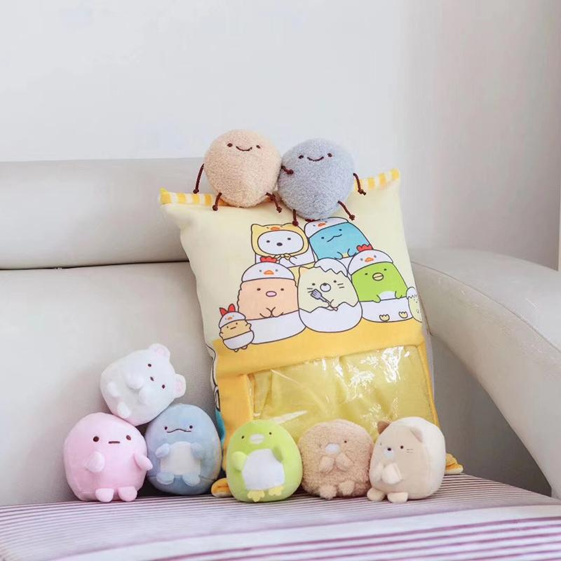 8 adet Mini Fare Kedi Unicorn Peluş Oyuncaklar Çocuklar için Karikatür Yastık Japonya Anime Figür Yaratıcı Hediye Çocuklar için veya Onun için