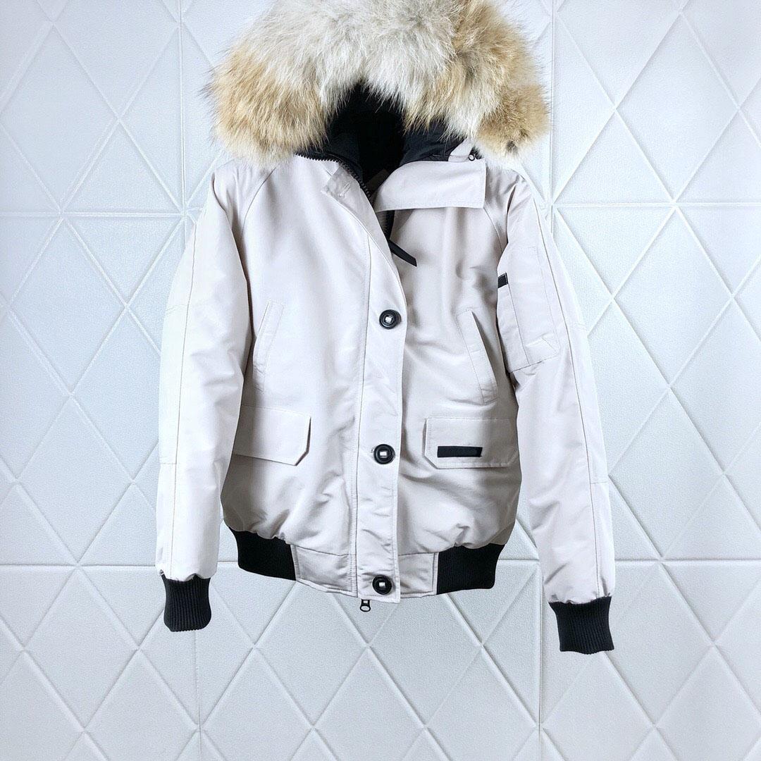 Kadın Yün Yaka Downs Ceket Tasarımcısı Klasik Kış Aşağı Parkas Yüksek Kaliteli erkek Ceketler Ceket Üst Boyutu XS-2XL