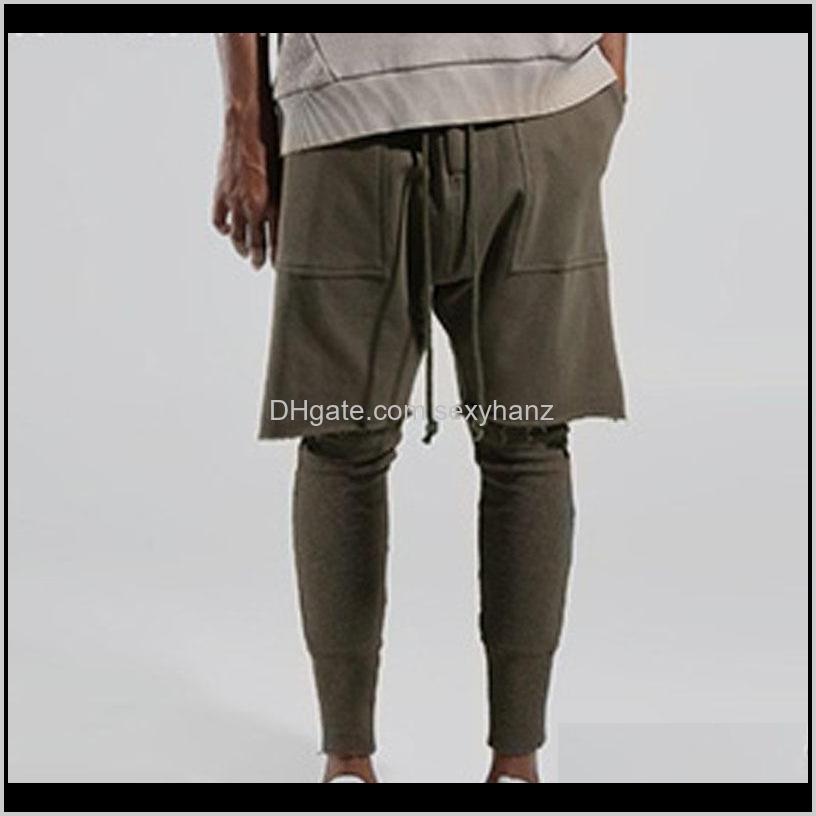 Kleidung Kleidung Drop Lieferung Herren Jogger Hosen Shorts Leggings Panalled Skinny Jogging 2 Farben Solide Laufgarn Sweatpants 2021 LSNFZ