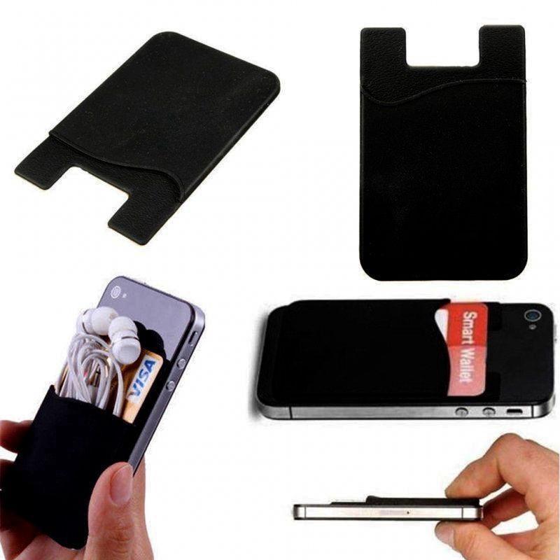 Adesivo adesivo elástico estiramento silicone casos de armazenamento de telefone celular titular cartão universal carteira universal