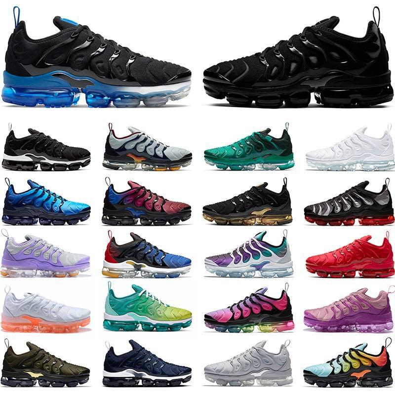 2021 TN Artı Erkek Kadın Koşu Ayakkabı Chaussures Üçlü Beyaz Siyah Atlanta Gold Üzüm Hiper Mavi Turuncu Erkek Sneakers Spor Koşucular