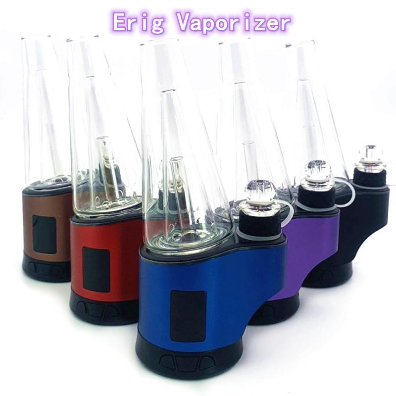 Original ERIG MCODE DRY HERB WAX DAB Vaporizer Kits con luz LED y dispositivo de pantalla digital Vape Pen Tube de agua