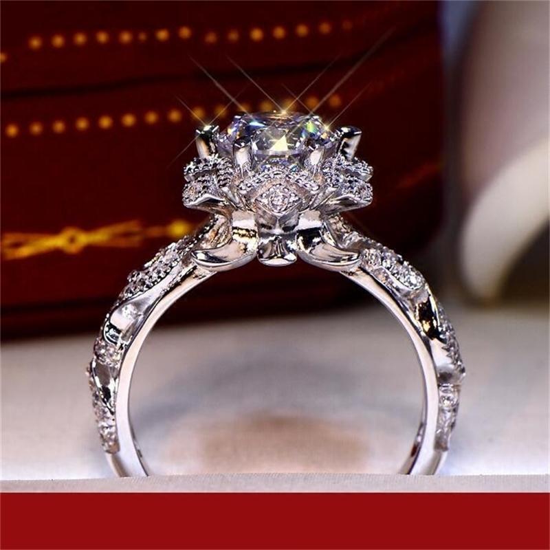 Real S925 Sterling Silver Natural Diamante Anel Mulheres Fine Sólido 925 Jóias Anillos Mujer Bizuteria Caixa de Gemstone 210610