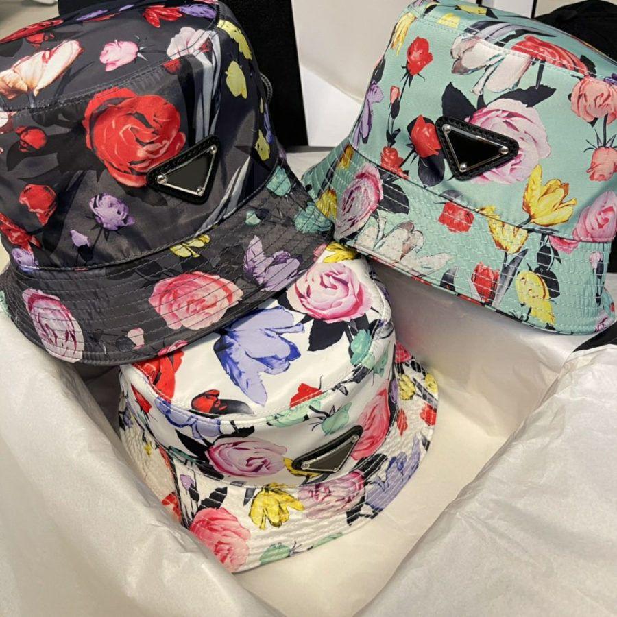 Balde de moda chapéu para homem mulher rua flor bola bonés equipados chapéus 8 cor com letras de boa qualidade