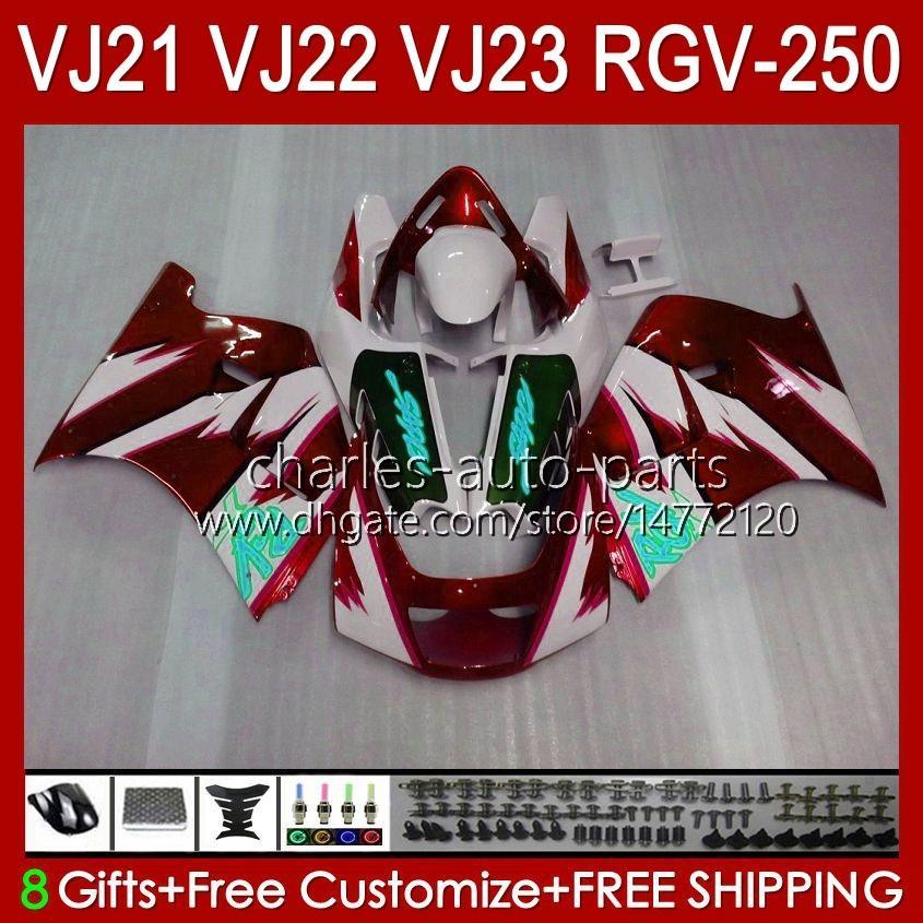 Bodys für Suzuki RGVT RGV 250cc 250 CC RGV-250 Panel RVG250 20HC.127 RGVT-250 90 91 92 93 1994 1996 1996 RGV250 SAPC VJ22 1990 1991 1992 1993 94 95 96 Verkleidungen Wein RED NEU