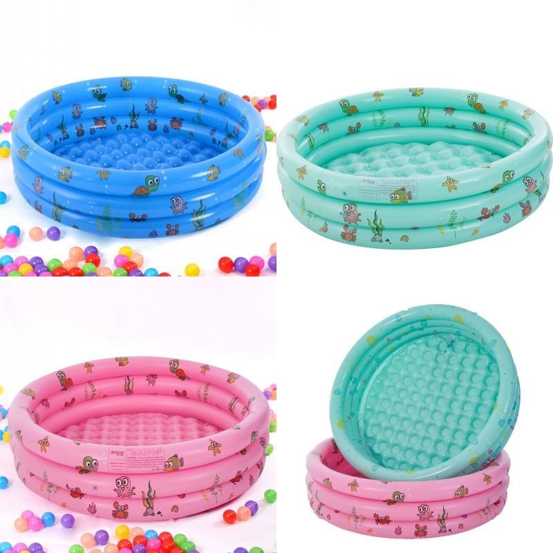 100 cm Pools Drei Ringe Baby Verdickung Rundkinder Inflation Spielen Schwimmbad Haushaltszubehör 30 yt K2