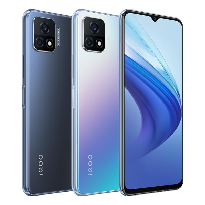 Original vivo iqoo u3x 5g Handy 4 GB RAM 128 GB ROM Snapdragon 480 Octa Core Android 6,58 Zoll Full Screen 13MP 5000mAh Fingerprint id Face Wake Smart Mobiltelefon