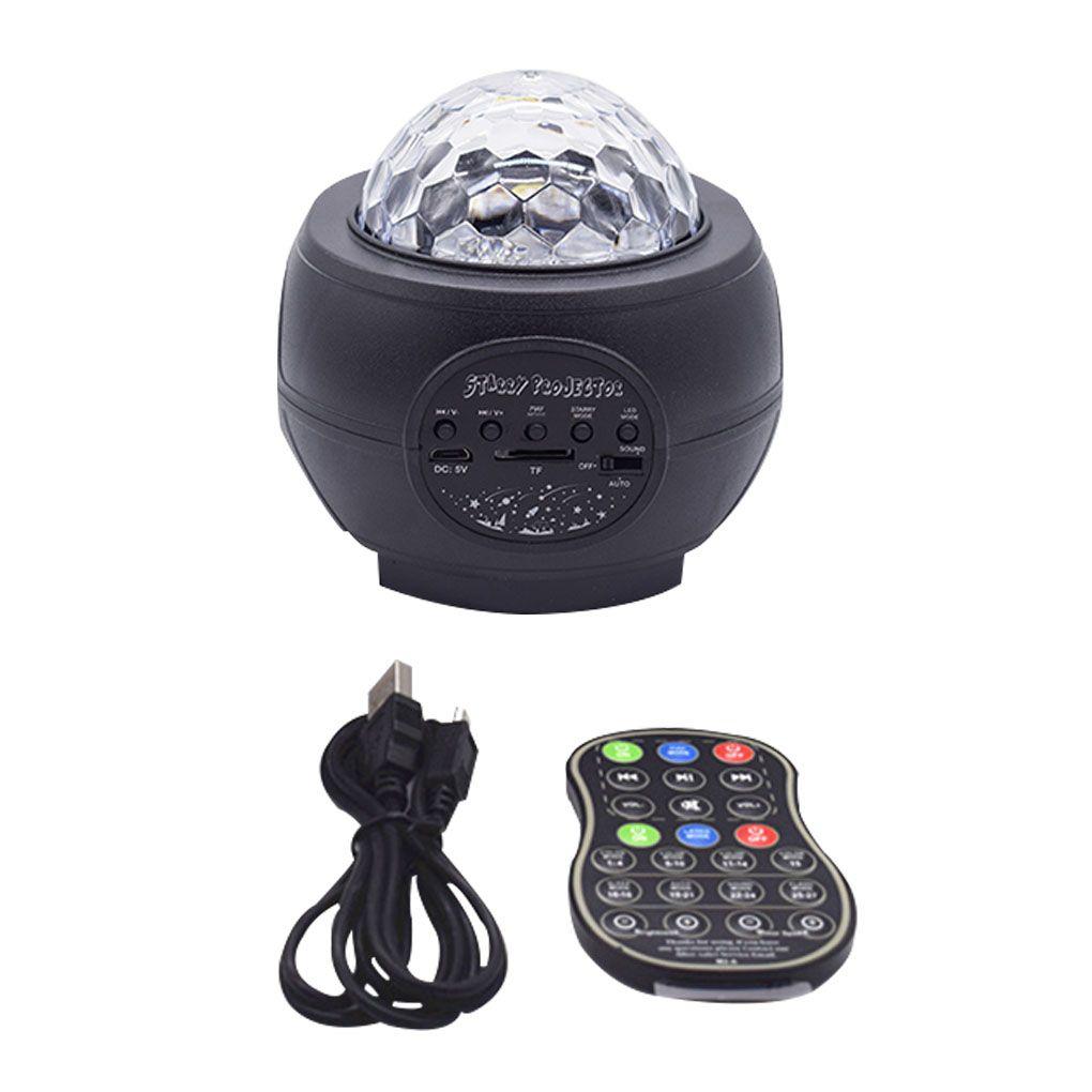 Girealo Renkli LED Yıldız Aydınlatma Projektör Dönen Okyanus Dalga Gece Işıkları Bluetooth Müzik USB Bulutsusu Lamba Yıldızlı Gökyüzü Galaxy Işık Dekor-Siyah