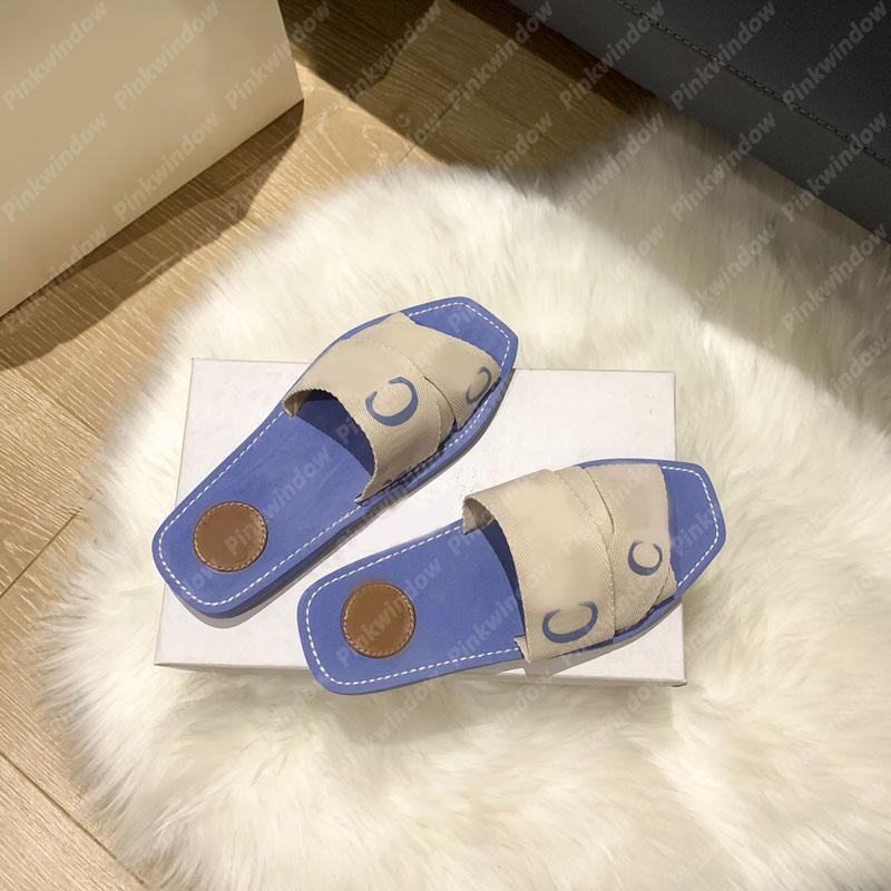 2021 المرأة الشرائح الصنادل المسطحة الخشبية بغل في قماش espadrille مصممي الفضلات المتزلجون sandalias sandale مصمم أحذية سانداليس 2104061L