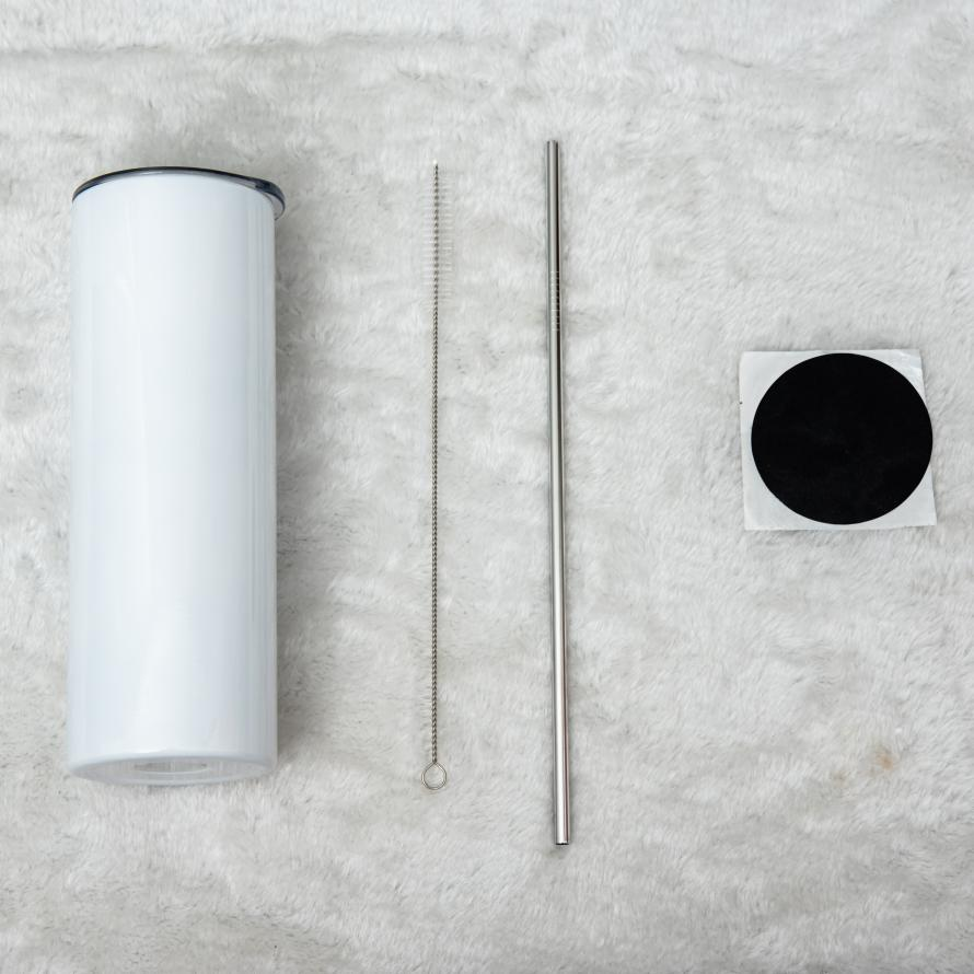 10 PACK White Shrink Wrap with perforation for 20oz Tapered and Straight Skinny Sublimation Tumblers