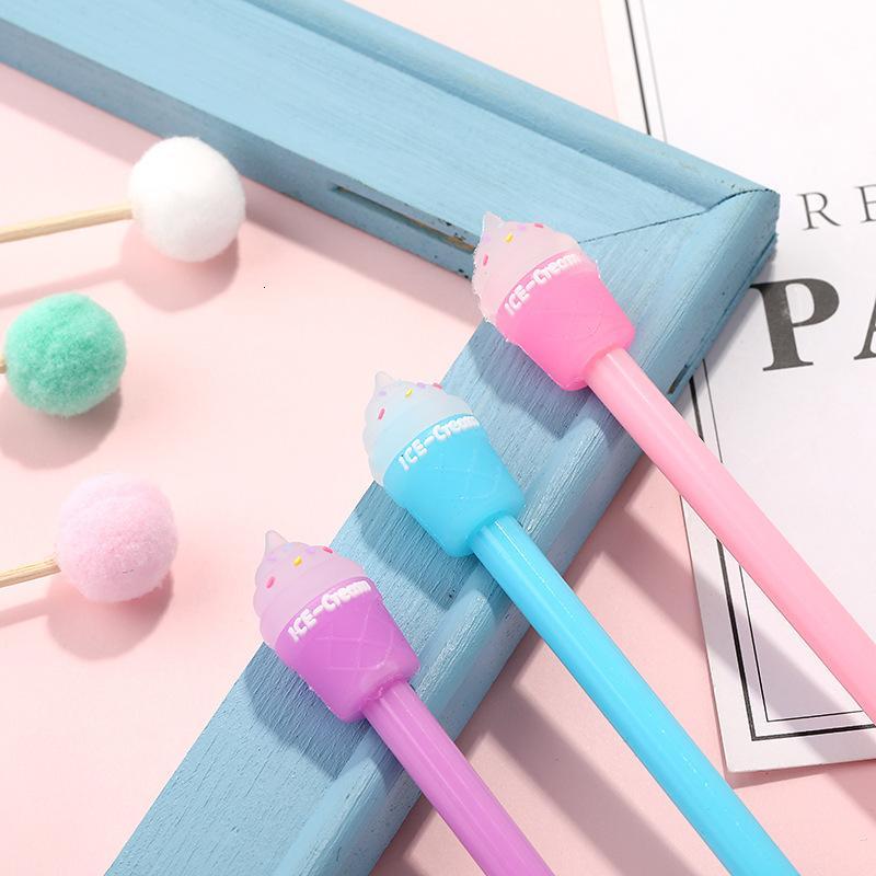 Pens creative stationery cartoon ice cream gel cute student animation office stationery water signature