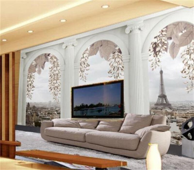 Großhandel kundenspezifisch beliebige größe foto wallpaper für wohnzimmer schlafzimmer wohnkultur wandbild tapete römische selcke papel de parede 3d 690 v2