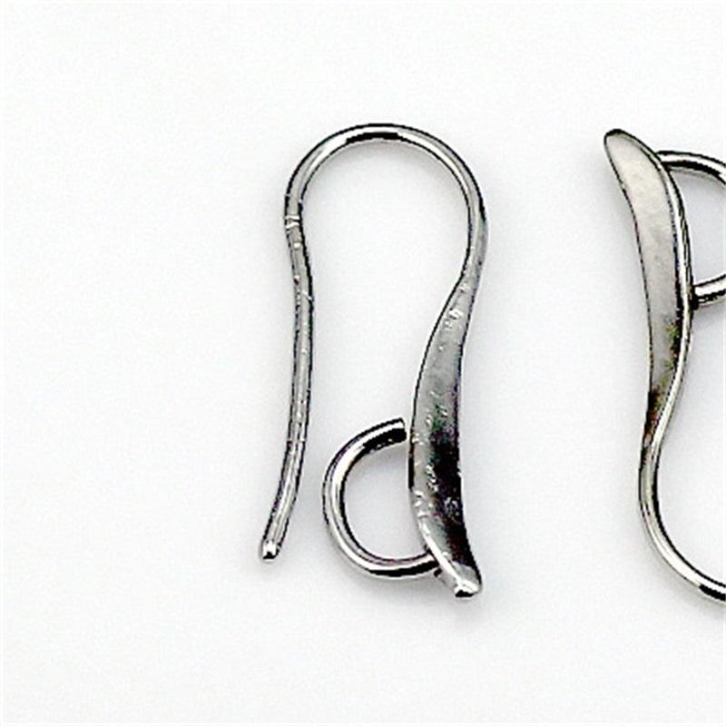 100x DIY 925 стерлингового серебра стерлингового серебра съезда для ювелирных изделий крючковой зажимные заливные провода уха для хрустальных камней шариков 1132 Q2