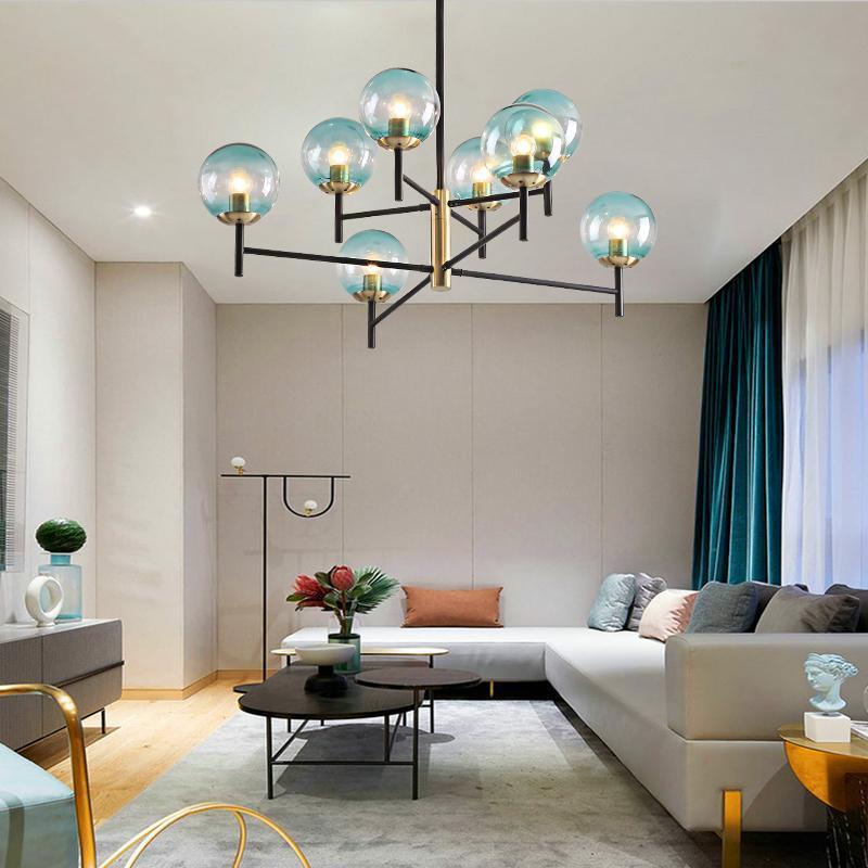 Nordic LED 샹들리에 식당 장식 철 펜던트 램프 검은 침실 세련된 나뭇 가지 홈 실내 빛 샹들리에