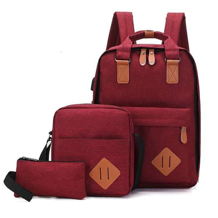 Bolsas de la escuela Bolsa de moda simple de los hombres BAPA Junior Bag para mujer Ocio de las mujeres bolso de la computadora