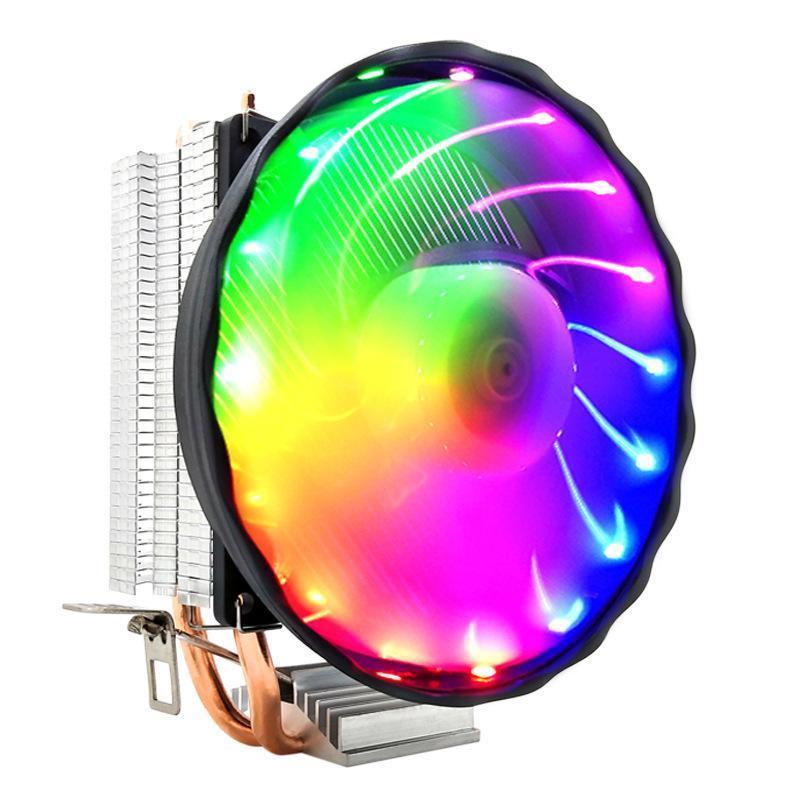 PC CPU Cooler Air Diodo Light 3pin Quieto Fan de Computador DIY Refrigeração Dissipador de Calor Radiador para Soquetes Intel LGA FANS COOLINGS