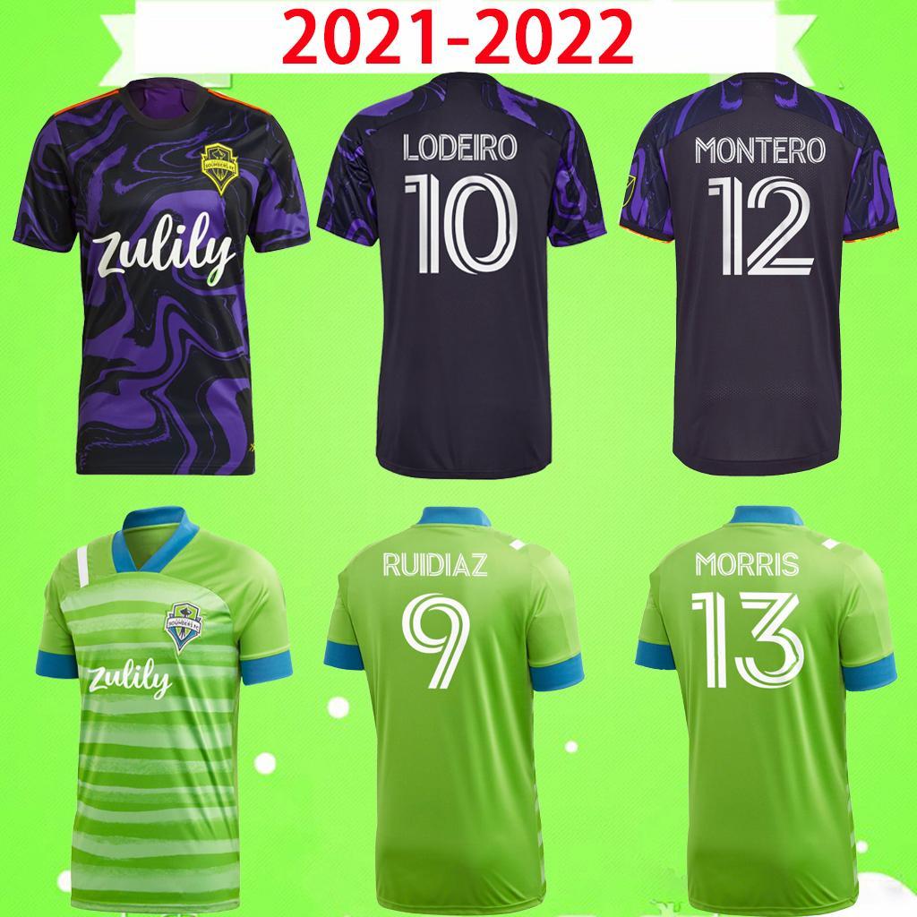 2021 2022 سياتل Sounders FC Home Away Soccer Jerseys MLS 21 22 Ruidiaz Morris Dempsey Torres Football Shirts Roldan Montero Lodeiro