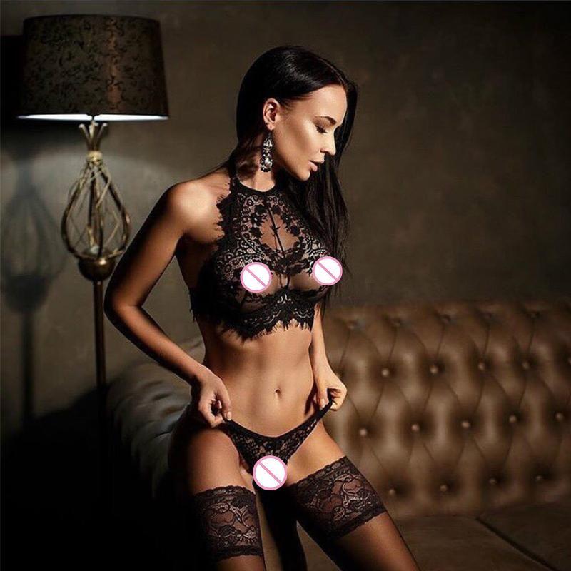 Brasil Sets Sexy Lingerie Erótico Roupas de Natal Renda Renda Nightwear Erspective Tassel Porn Cueca Plus Size XXXL Mulheres Conjunto