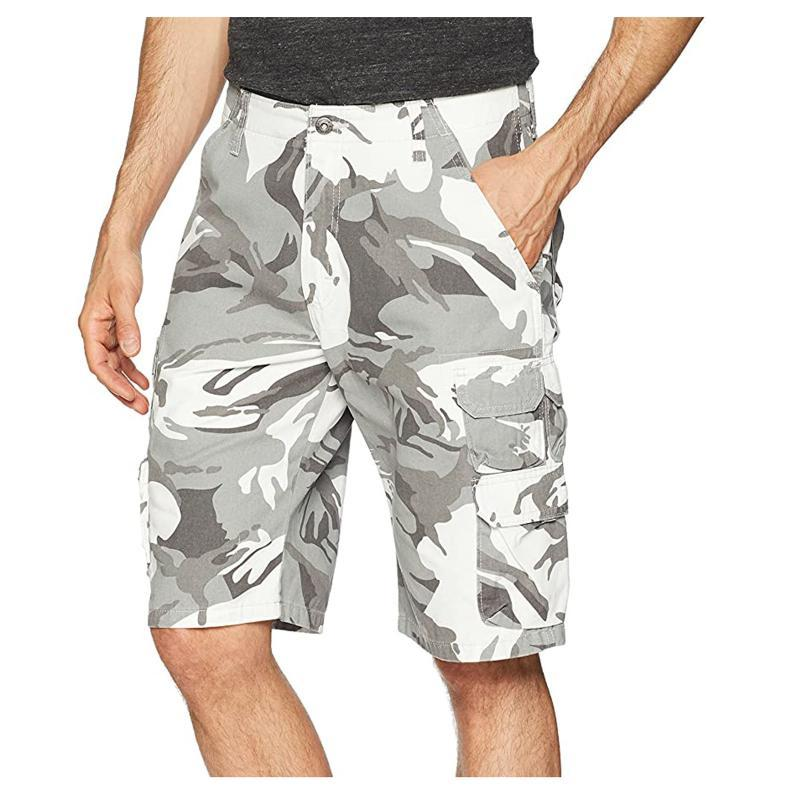 Homens Shorts Moda Homens Verão Casual Cintura Alta Cintura Ao Ar Livre Respirável Loose Camuflagem Multi-bolso Lazer Carga Pantalones Hombre # G3