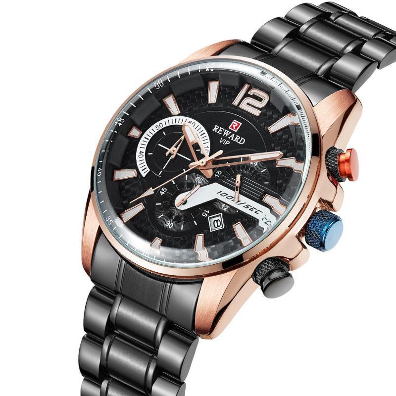 Armbanduhren 2021 Student Sport Watch Concept Herren Steel Band Kalender Sechs-polige wasserdichte Quarz
