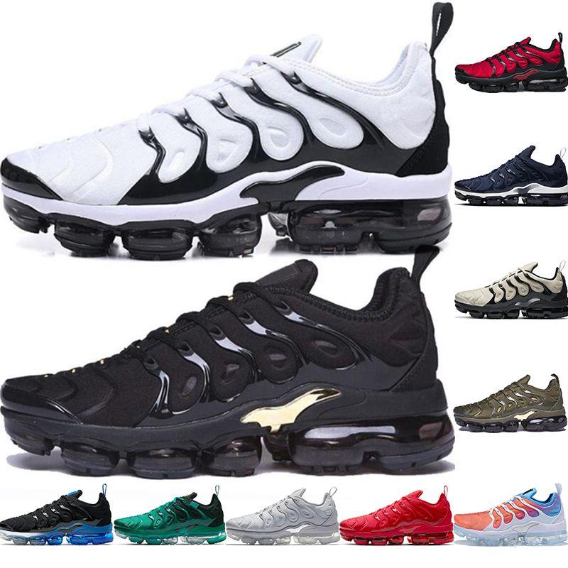 Nlke Vopars Tn plus Chaussures de course Taille 13 Vapourmax TNS Hommes Femmes Femmes Atlanta Noir Royal Maxs Baskets Air Sports Sneakers 36-47