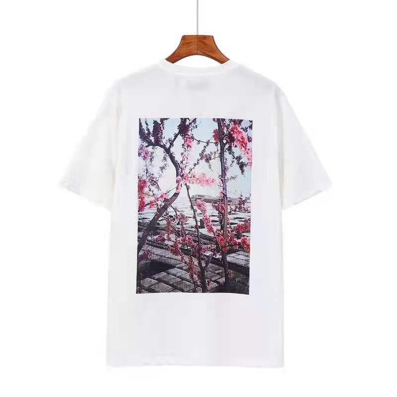 20ss T рубашка с коротким рукавом круглые шеи блузки толстовка летняя улица хип-хоп рукава верхняя буква 100% хлопок мужчины и женщины плюс размер S-XL