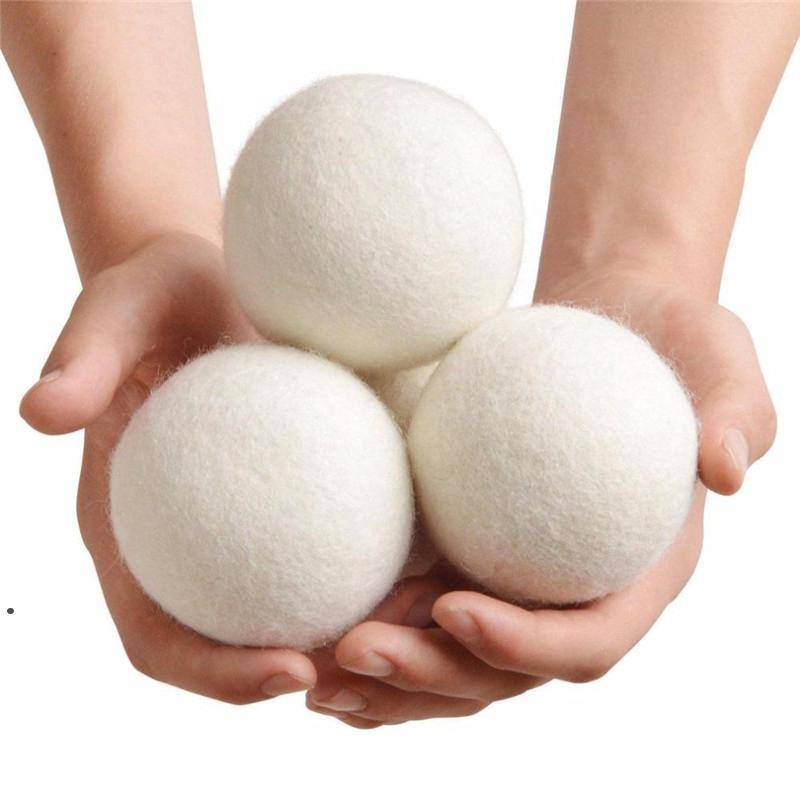 كرات مجفف الصوف منتجات الغسيل قابلة لإعادة الاستخدام النسيج الطبيعي المنقي يقلل من الكرة النظيفة الثابتة يساعد الملابس الجافة في غسيل الملابس أسرع HHF6075
