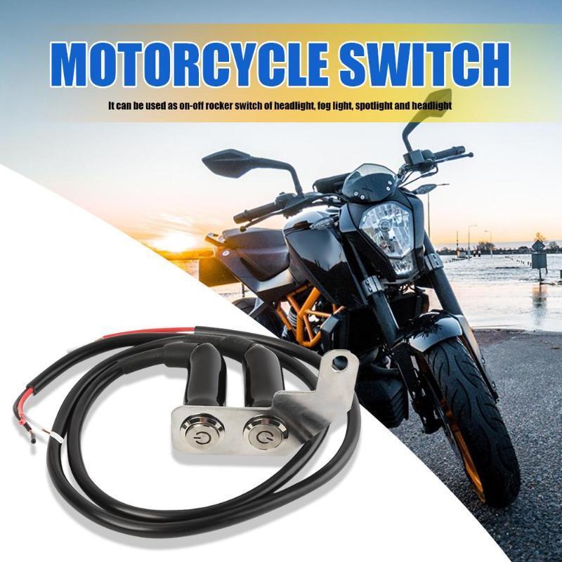 Houssine de moto de 22mm sur le commutateur OFF Couleurs classiques et montage réglable de conception durable simple pour guidon de phare de brouillard