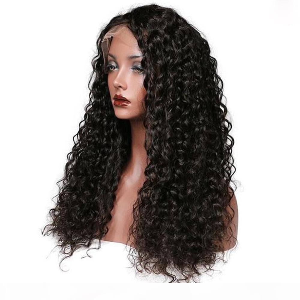 Pelucas delanteras del cabello humano de la onda profunda 360 con el pelo del bebé Hair brasileño 360 encaje peluca frontal peluca natural para mujeres negras