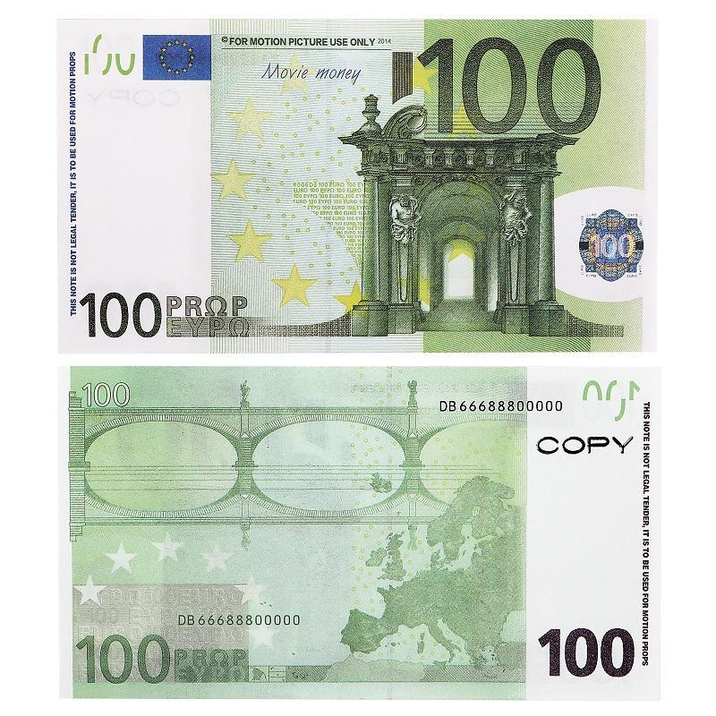 دعم نسخة لعبة اليورو واقعية الأوراق النقدية في المملكة المتحدة ورقة الأوراق النقدية نتظاهر ب