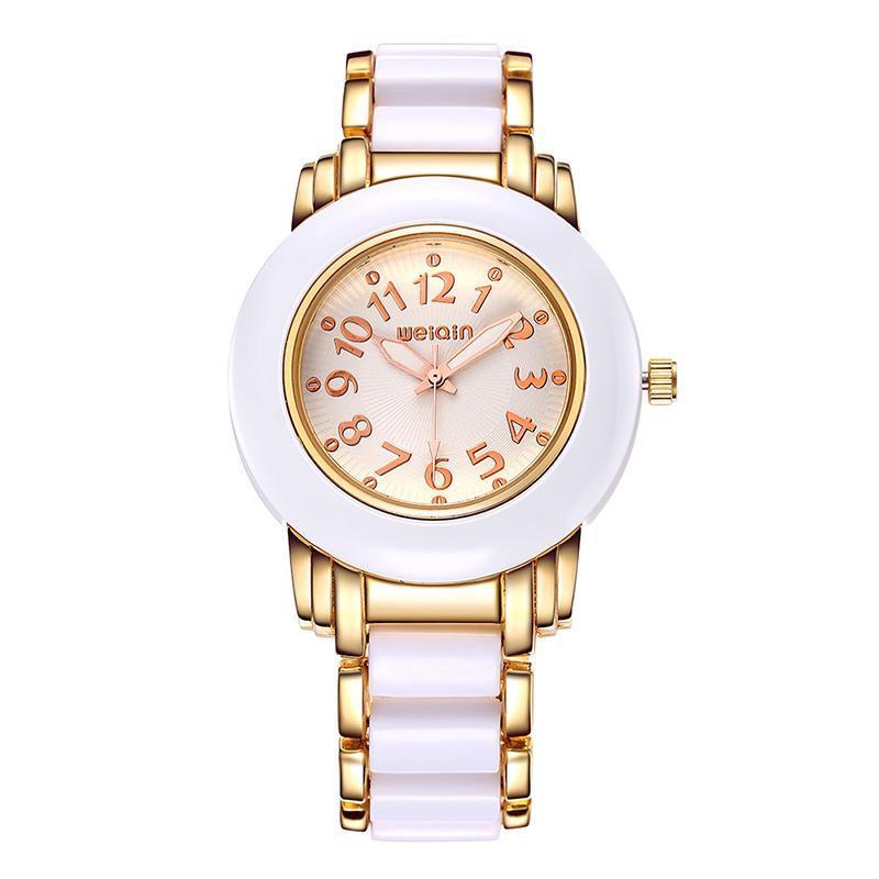 Armbanduhren 2021 Top Marke Fashion Business Damenuhr Edelstahl Zifferblatt Wasserdichte Quarz Armband Relogio Feminino